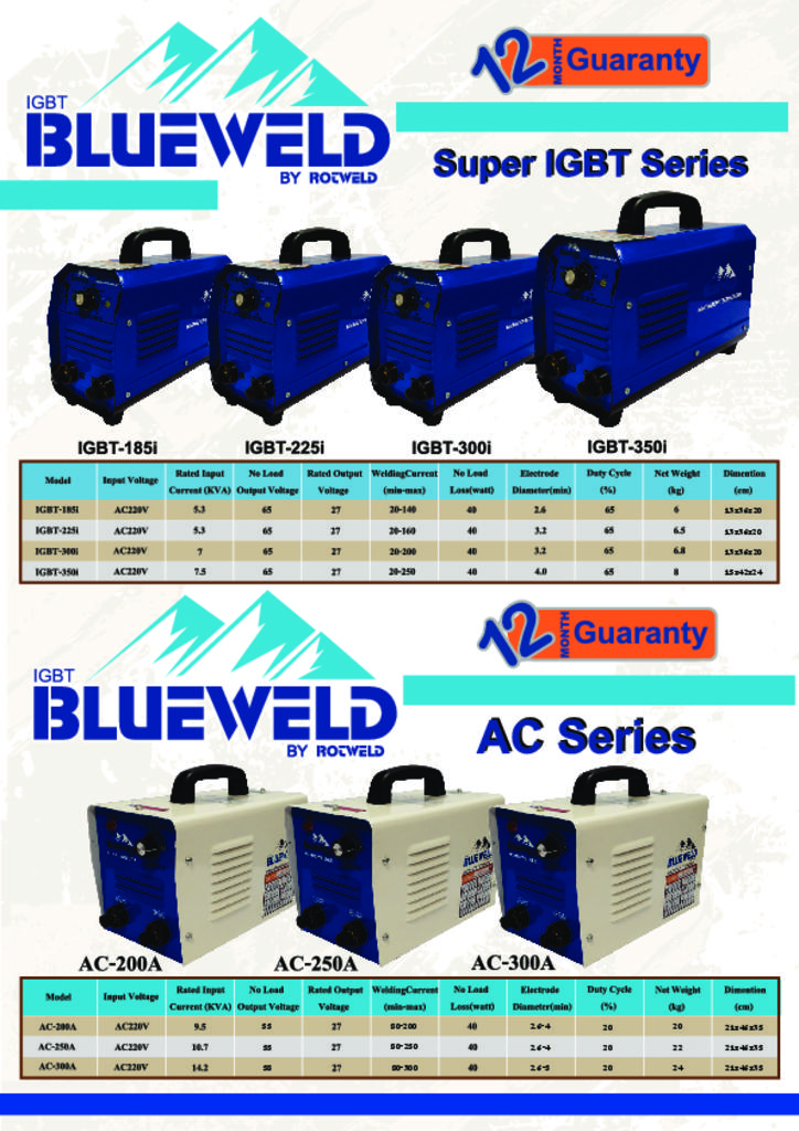 Rotweld - Blueweld Super IGBT Series Catalog